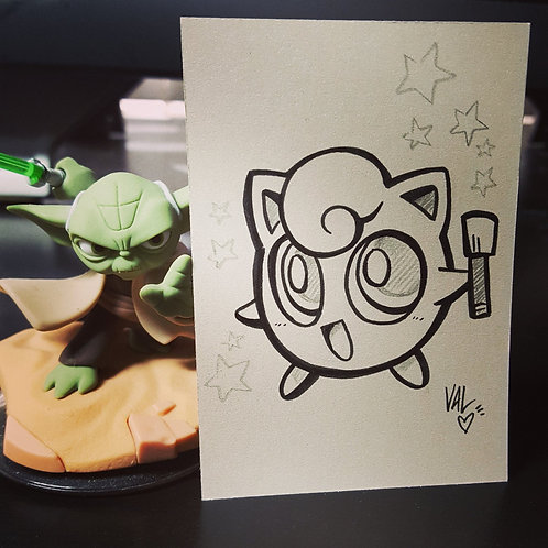 #039 - Jigglypuff - Pokemon Art Card