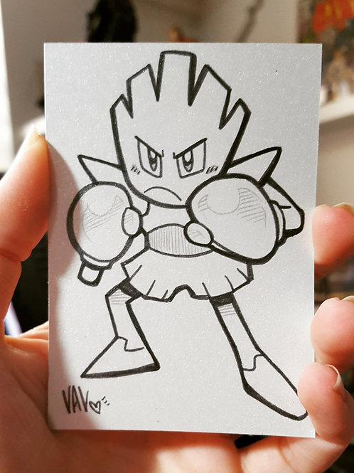#107 - Hitmonchan - Pokemon Art Card
