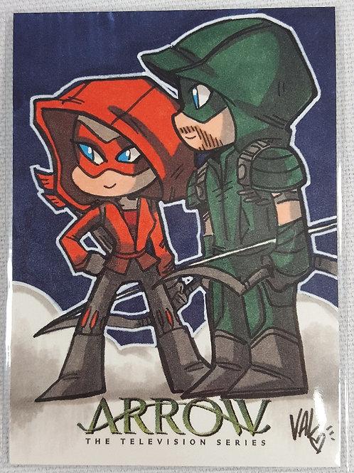 Arrow & Speedy- ARROW The Television Show Season 4 - AP Card