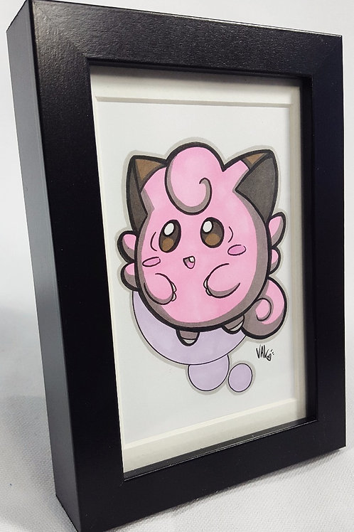 Clefairy  - Framed Original Art