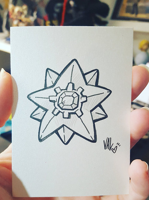 #121 - Starmie - Pokemon Art Card