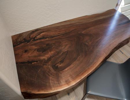 Walnut Live Edge Float Corner Desk