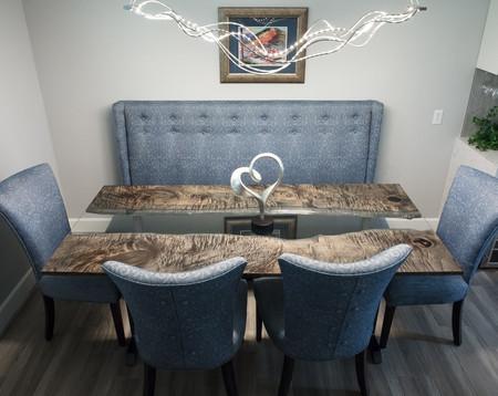 Ebonized Maple Modern River Dining Table