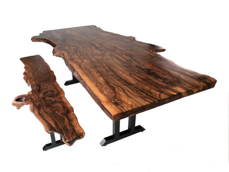 AZ Black Cherry Live Edge Dining Table Commission