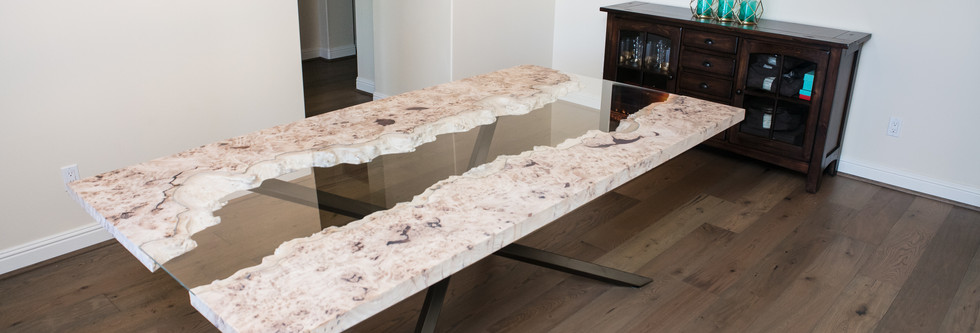 Modern Live Edge River Dining Table