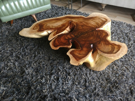 Acacia Stump Coffee Table