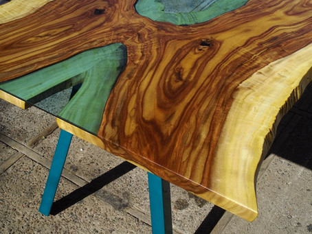 Bookmatched Rosewood River Table