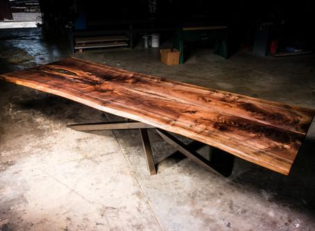 4x12ft Walnut Live Edge Dining Table