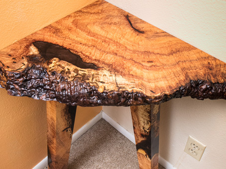 Custom Mesquite Corner Table