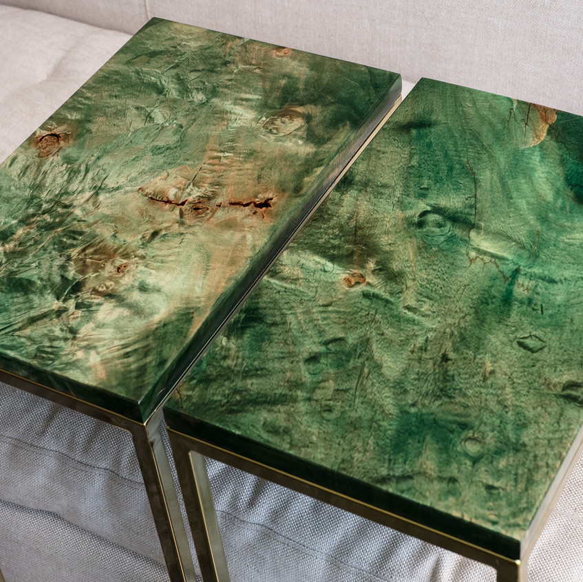 emerald green maple wood color pop mod furniture