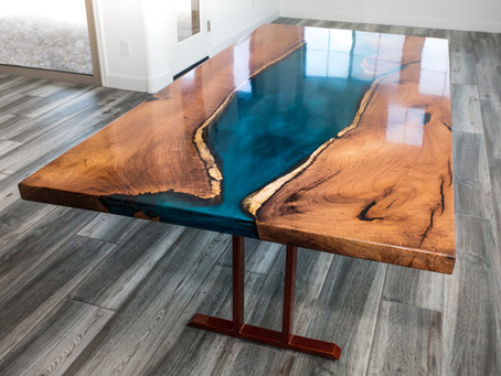 Mesquite Resin River Dining Table
