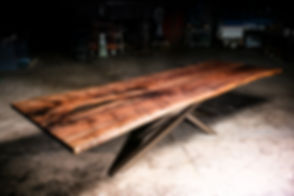 Walnut Live Edge Dining Table 4x12ft