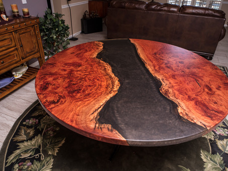 Red Gum Eucalyptus Resin River Dining Table Project