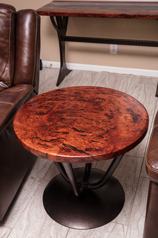 Red Gum Burl Bold Transitional Table