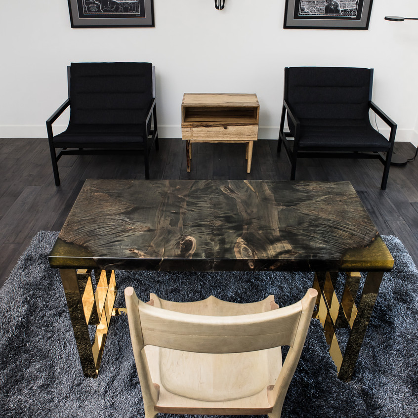 ebonized maple desk on display at Desert Highlands Scottsdale property by Local Trade