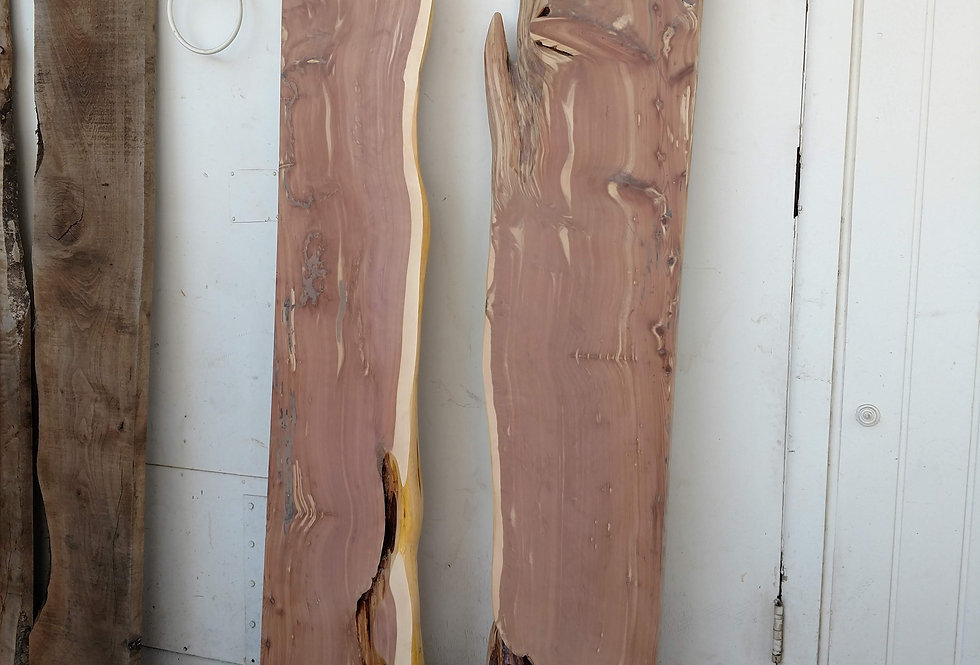 western red cedar river table live edge slabs