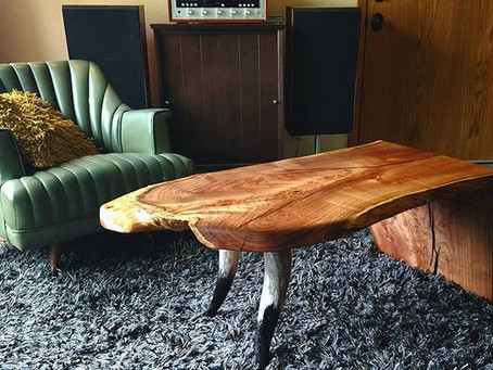 Mesquite Waterfall Coffee Table