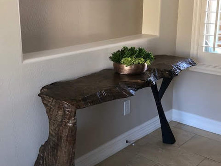 Ebonized Maple Waterfall Console