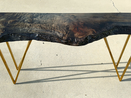 Ebonized Maple Console Table