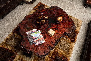 "58"" Australian Red Gum Burl Coffee Table"