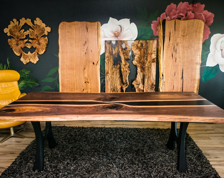 Live Edge Slab Luxury Dining Tables