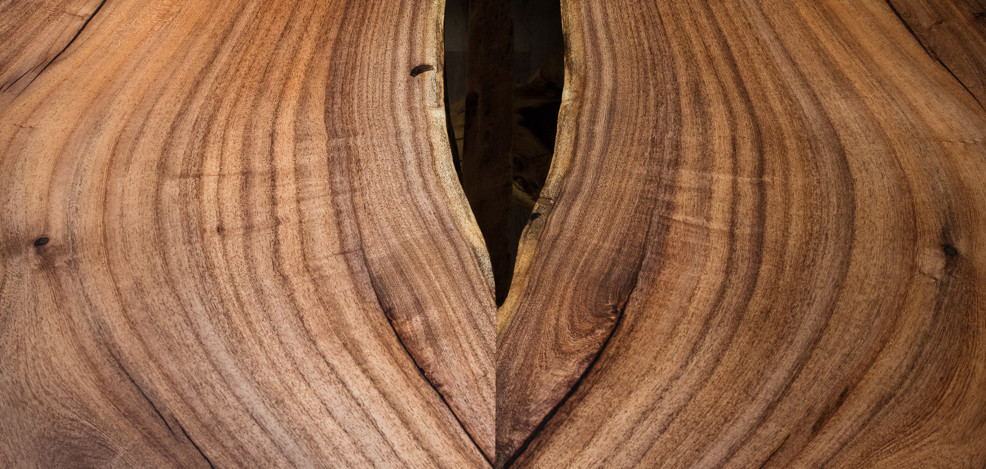 Bookmatched Mesquite reclaimed urban lumber