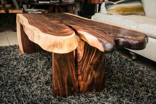 Shoestring Acacia Waterfall Coffee Table