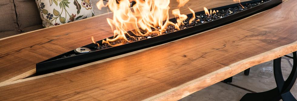 Mesquite Live Edge Firepit Table