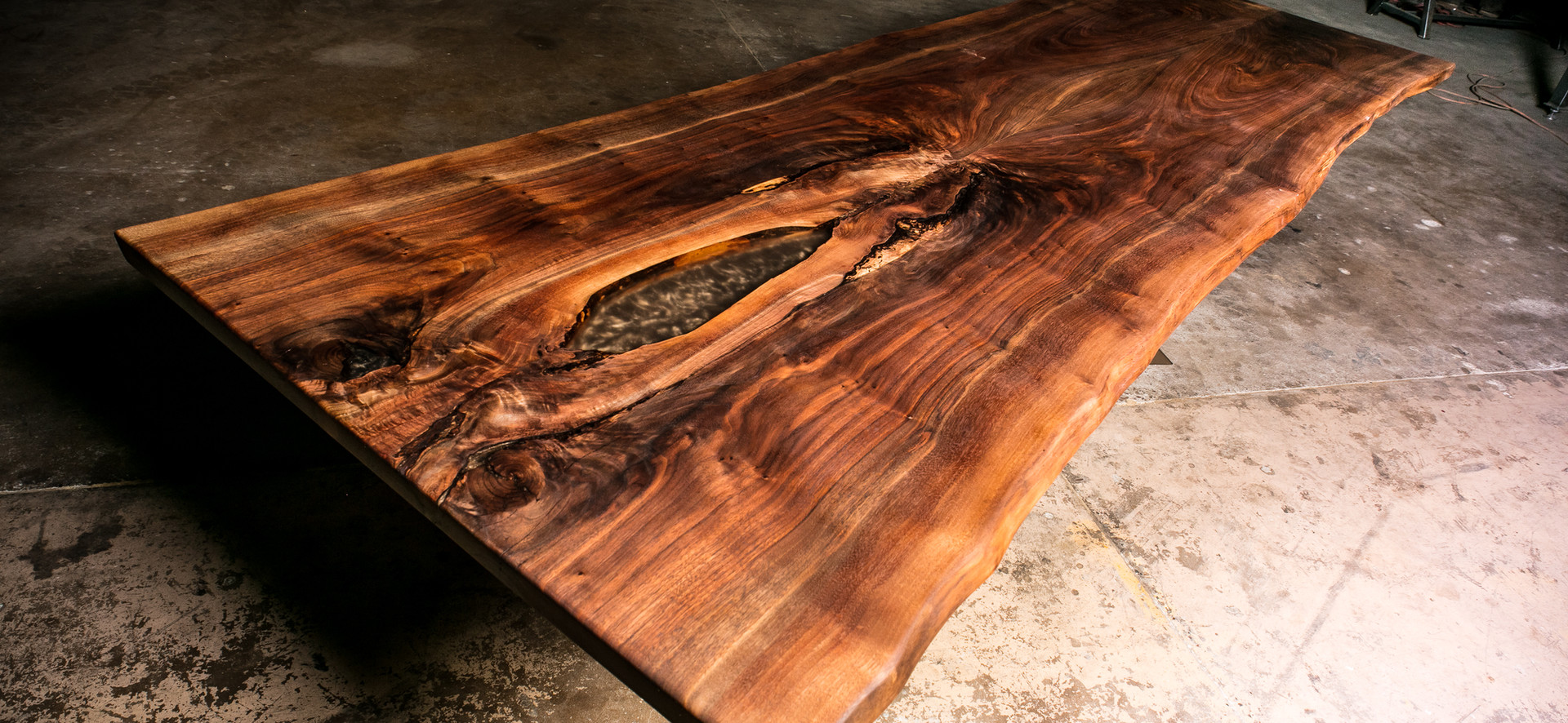 12ft Walnut Live Edge conference table