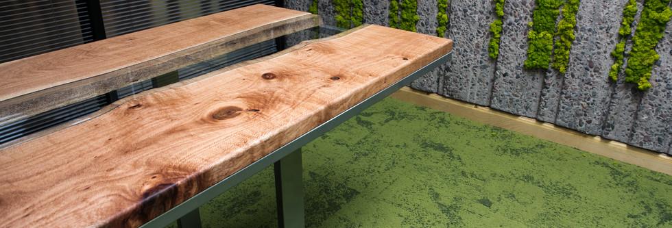 Silky Oak Glass River Table for ASU Biomimicry