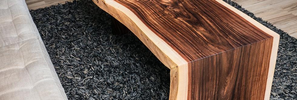 waterfall acacia live edge coffee table