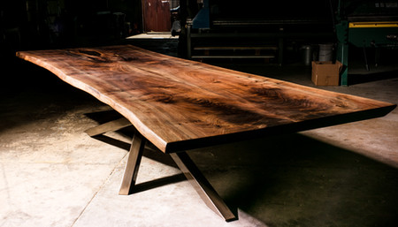 4x12ft Walnut Live Edge Conference Table