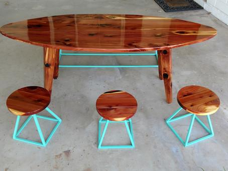 Red Cedar Surfboard Toddler Table