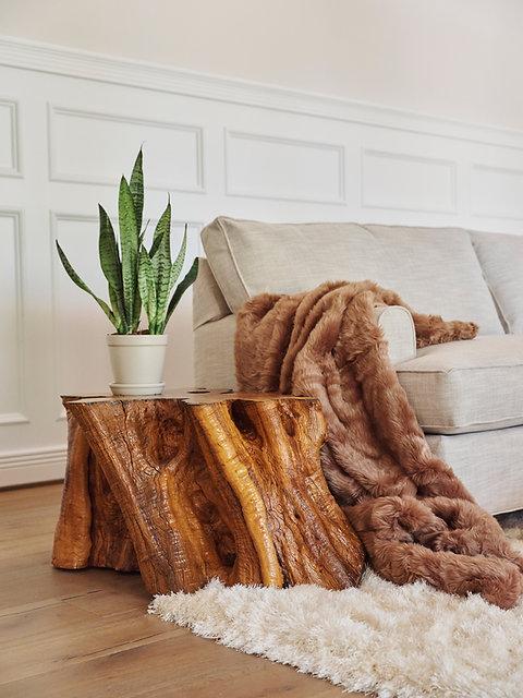 Mediterranean Olive Wood Large Stump Coffee Table Lumberlust