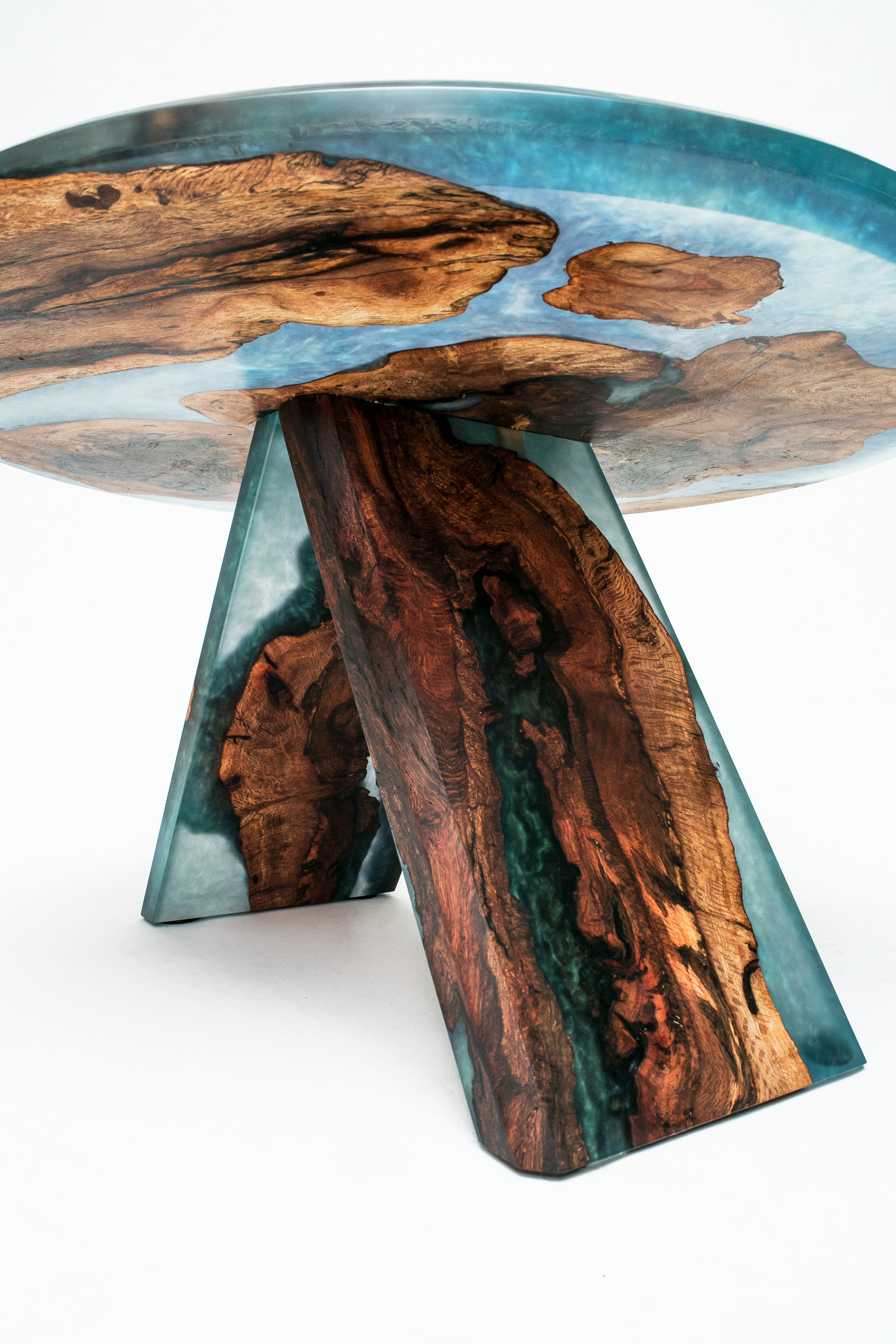 Black Cherry Burl Islands Blue Green Resin Art 30 Coffee Table Lumberlust Designs