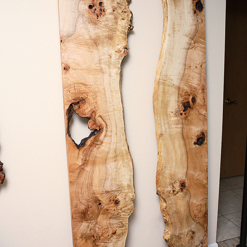 natural edge maple wood slabs finished for live edge river mirror 36x78