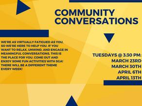 SGA Community Conversations 3/23/2021