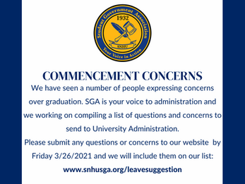 Commencement 2021 Concerns and Questions
