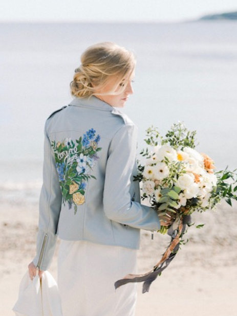 Custom bridal jacket