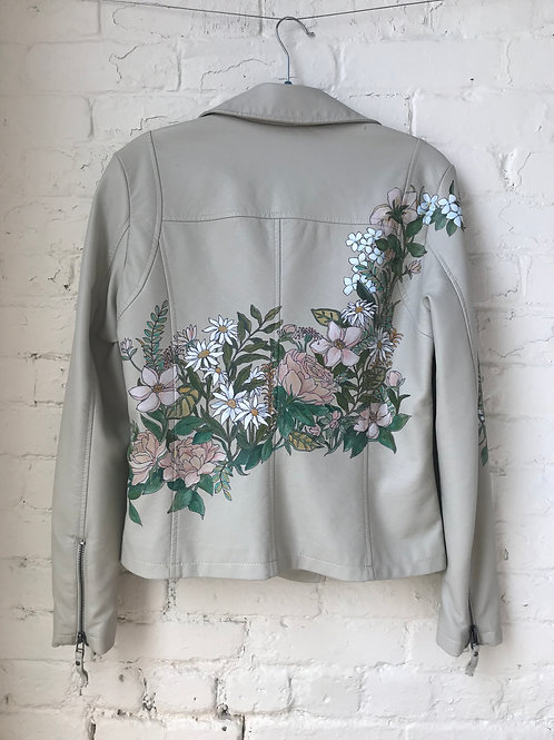 Beige Garden Floral Jacket