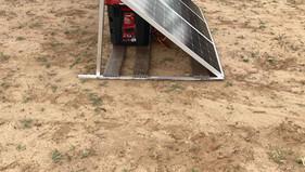 Solar Power Set Up for Sacred Mountains Sundance in Pinon, AZ