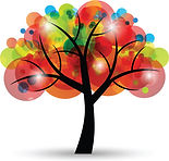 creative_colorful_tree_design_elements_v