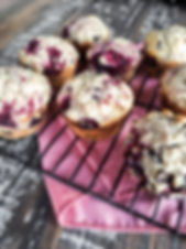 Photo ''Muffins aux framboises, amande e