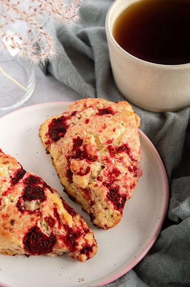 Photo ''Scone au citron et framboises''