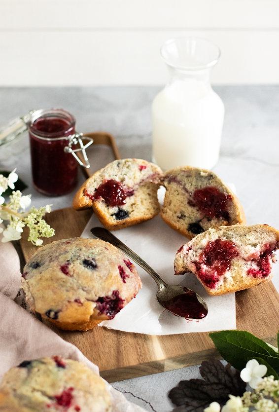Photo '' Muffins aux petits fruits, yogo