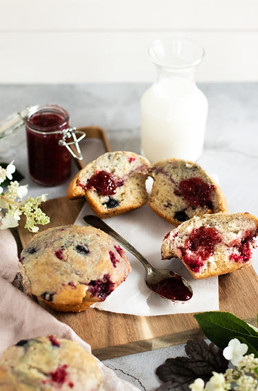 Photo '' Muffins aux petits fruits, yogo