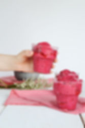 Photo ''Sorbet aux framboises et mangue'