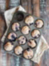 Photo ''Muffins aux bleuets, yogourt et