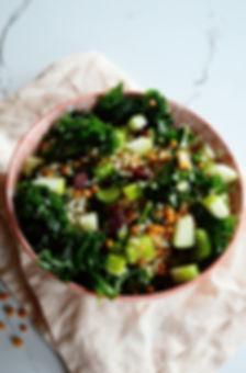 Photo ''Salade de kale, lentilles, riz b