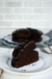 Photo ''Gâteau chocolat et glaçage à l'a
